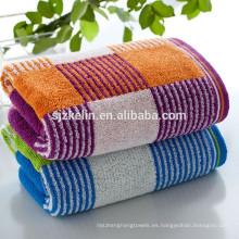 Toalla de baño de bambú de la tela escocesa colorida 16s