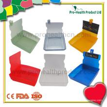 Plateau de récipient en plastique de plateau de travail de laboratoire dentaire avec le clip (pH09-069)