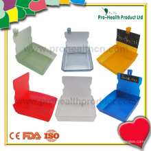 Caixa de trabalho do laboratório dentário Bandeja de recipiente de plástico com clipe (pH09-069)