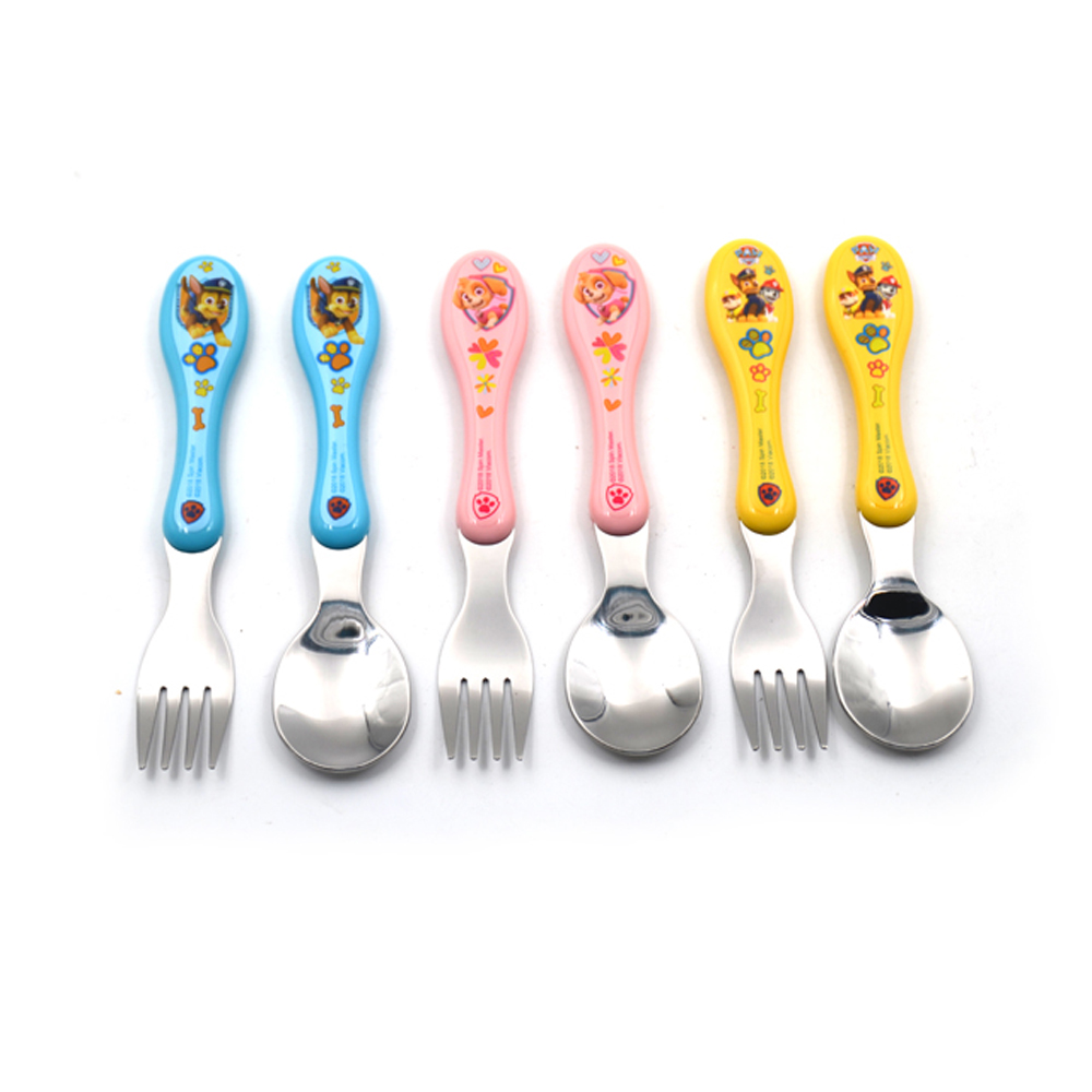 Cute pattern ABS handle with SS baby cutlery