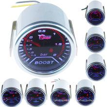 """Car Motor Pointer Smoke Tint Len 2"""" 52mm Oil Press Gauge Meter Dials Face"""