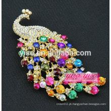 Broche de cristal de pavão de cristal de moda
