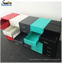 Armário de armazenamento de gaveta multifunções de gaveta de aço do escritório