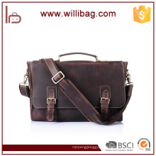 High-grade Vintage Top Grain Business Bag Custom Men Briefcase