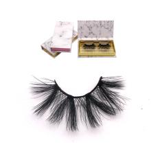 DL030 Hitomi eyelash vendor customized boxes silk eyelash made in korea double layer private label 25mm silk eyelashes