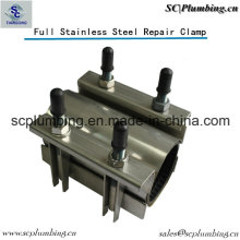 Pipeline Waterworks Industry Ss304 Pipe Repair Clamp Double Band