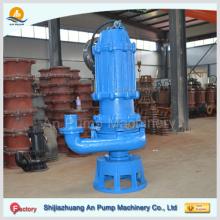 Pompe de dragage de sable submersible à eau d'égout vertical