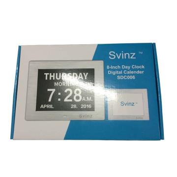 Custom Day Clock Digital Calendar Gift Packaging Box