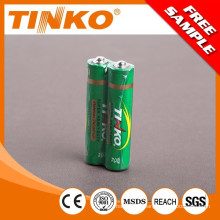 carbon zinc dry battery R6 OEM offering 60pcs/tray meta top and metal bottom