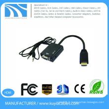 Kuyia VGA vers HDMI adaptateur 1080P HDMI mâle vers VGA femelle avec adaptateur vidéo Adaptateur câble pour PC DVD HDTV