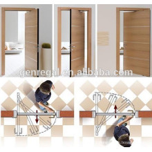 Single leaf Interior double swing wooden door