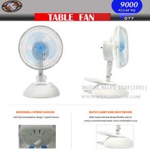 6inch 2 in 1 Fan mit zwei Speed Table Fan Clip Fan 2in1