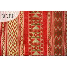 Big Red Festive Good Chenille Jacquard Fabric Sofa (FTH31717)