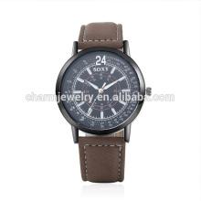 Новые дешевые дешевые ретро кварцевые популярные наручные часы кожи SOXY049