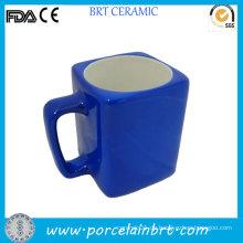 Werbeartikel Blue Outside Certified Square Keramikbecher