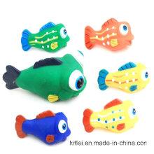 Оптовые украшения подарок искусственного ПВХ пластиковые красочные игрушки рыбы для малыша