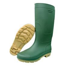 Botas de inyección de PVC verde de moda (66711)