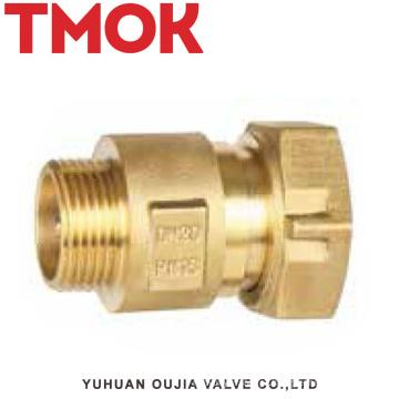 válvula de retenção do medidor de água de rosca interna de latão