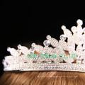 Direkte Fabrik Rhinestone Tiara Clear Stone Crown für Hochzeit
