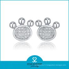 Boucles d'oreilles en diamant 925 de charme en 2016