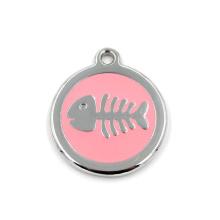 Pendentif personnalisé en forme de pendentif rond pour collier ou porte-clés