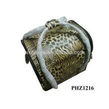 2014 mejor vendedor profesional bolso cosmético del PVC con el patrón de tigre y 4 bandejas extraíbles interior fabricante