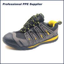 Pele compacta leve e Kevlar Sapatos de segurança de estilo desportivo Ss-037