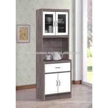 Gabinete de cocina de madera con patas