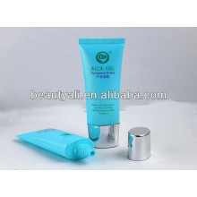 plastic oval cosmetic tube with screw cap