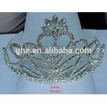 crystal rhinestone chain for claw doll crown silver plated tiara crown silver tiara