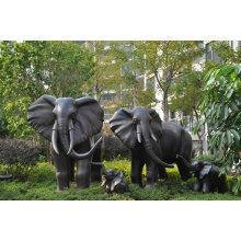 Bronze decoration large garden elephant metal sculpture