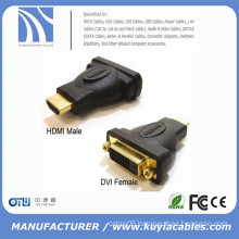 HDMI Male to DVI-D(24+1) Female Adapter, Gold Plated