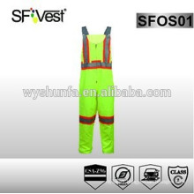 High visibility reflective safety coveralls with reflective tape , class 2 CAS Z96-09