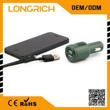 Voiture indispensable 5v 1a prise de chargeur de voiture 12v, avec fusible téléphone portable chargeur de voiture micro usb