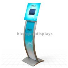 Kundenspezifisches Logo-freies Entwurfs-Metall stillstehendes neues E-Buch-Anzeigen-Screen-Einkaufszentrum-Kiosk