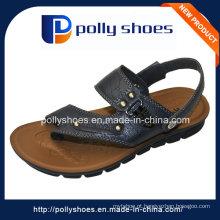 Novo barato feito por atacado sapatos PU couro Men's Sandal Atacado