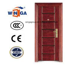 Sunproof Ce High Quality Swing Security Steel Door (WS-118)