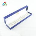 Caja de pulsera de cadena de papel de cuero sintético de plástico azul