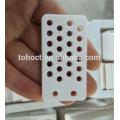 Placa de cerámica de color blanco alúmina 95-299,9% Al2O3 con agujeros