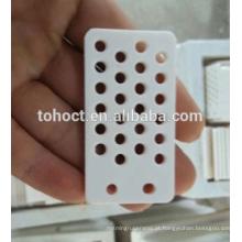 Placa cerâmica da cor branca da alumina 95 --- 99,9% Al2O3 com furos