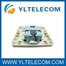 Caixa de montagem para telefone sem ferramentas com rede Gel Keystone Jack