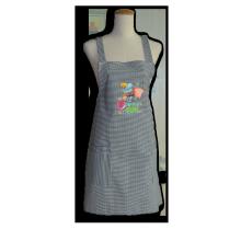 Embroidered Grill Apron Cross Back Bib Apron