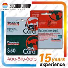 Tarjeta de regalo de plástico / PVC Die Cut Card