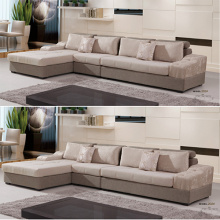 Long Chaise Lounge Lazy Upholstered Sectional Sofa