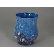 Colorful Sands Covering Glass Hurricane Lamp Candle Holder