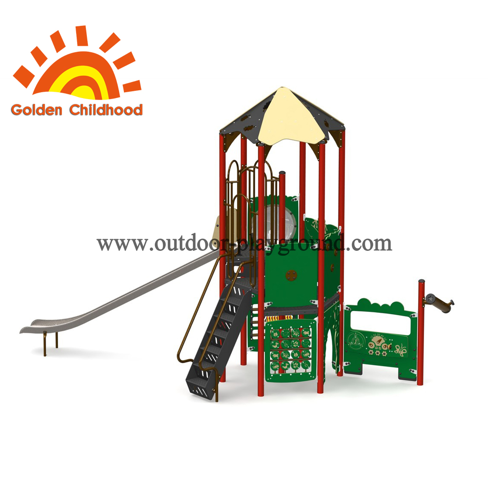 Playcar Tower Outdoor Playground Structure