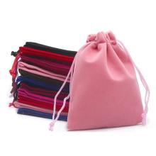 Wholesale custom velvet drawstring pouch bags