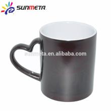 heartshape hanlde edge color mug blank sublimation mugs factory supply Yiwu Sunmeta