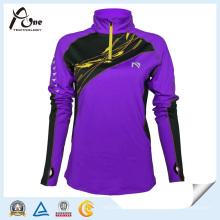 China-Hersteller-Frauen-kundenspezifische purpurrote Farben-Großverkauf-Sportkleidung