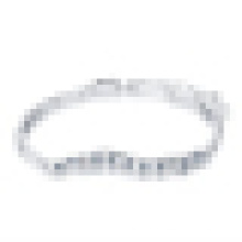 Pulseira de cristal de prata esterlina 925 das mulheres